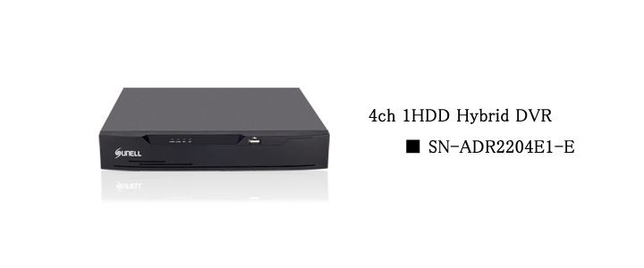 SUNELL製 4ch DVR top画像